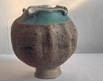 Don Adamaitis ~ Volcono Glaze ~ Poppy Seed Pod ~ Pedestal ~ Blooming Globe