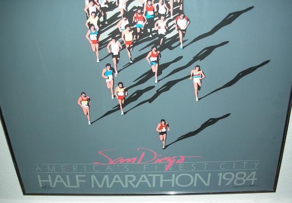 On reserve for R. 1984 San Diego Half Marathon Signed Limited Edition Original Framed Poster