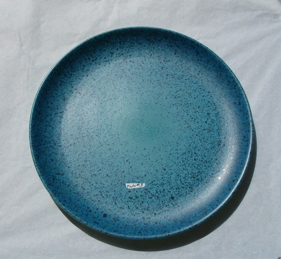 Felix Tissot Blue Matte Splatter Glazed Dinner Plate no.3