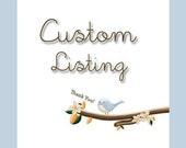Custom Listing - Reserved for Corinne