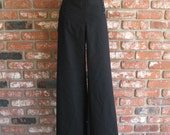 Vintage US Navy Issue High Waist Wide Leg Gabardine Swing Sailor Pants 34w