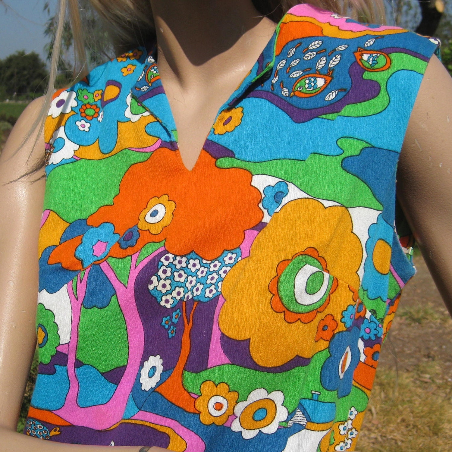 Reserved Vintage 60s Mod Peter Max Style Psychedelic Dream  Peter Max 60s