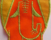 Vintage Elephant- 1970s Vintage Sewing Patch Applique Retro