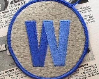 W or M - Vintage Patch from 1970s