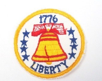 Liberty 1776 - 1970s Vintage DIY Craft Sewing Patch Retro