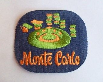 Monte Carlo  Retro Vintage 1970's Sewing Patch Applique