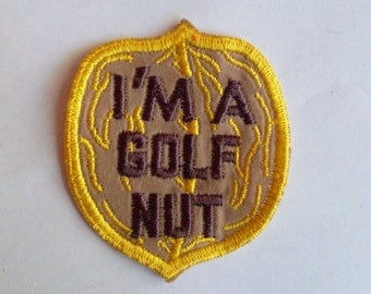 Im a golf nut Authentic Vintage Iron On Sewing Patch Applique