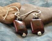 Jasper and Hematite Earrings