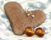 Swing-style Amber Glass Earrings