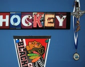 Letter Art Wall Sign Sport Theme Home Decor   HOCKEY