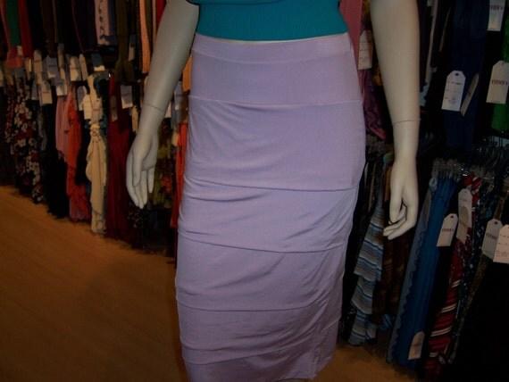 Lavender  A  Line  Skirt (V172)