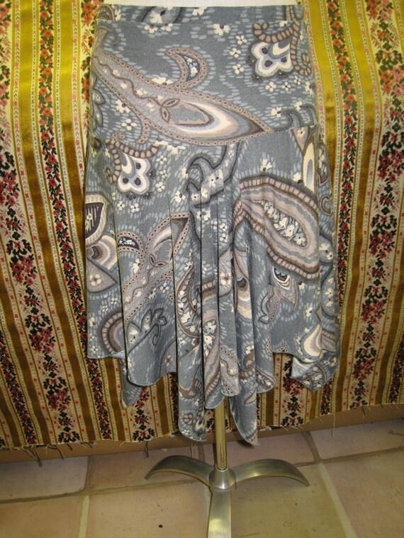 Retro print mix color skirt (v60)