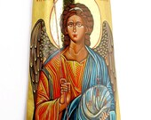 Archangel Michael - MADE TO ORDER - handpainted orthodox icon on a tile 11.6 by 7.4 inches