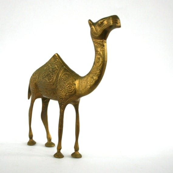 Vintage Brass Camel Figurine Magic Carpet Animal Nature