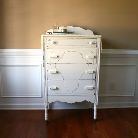 Reserved Chest Of Drawers Antique White 1930s Dresser