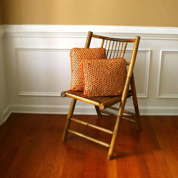 Vintage Folding Chair Bamboo Cane Folding Chair Bohemian
