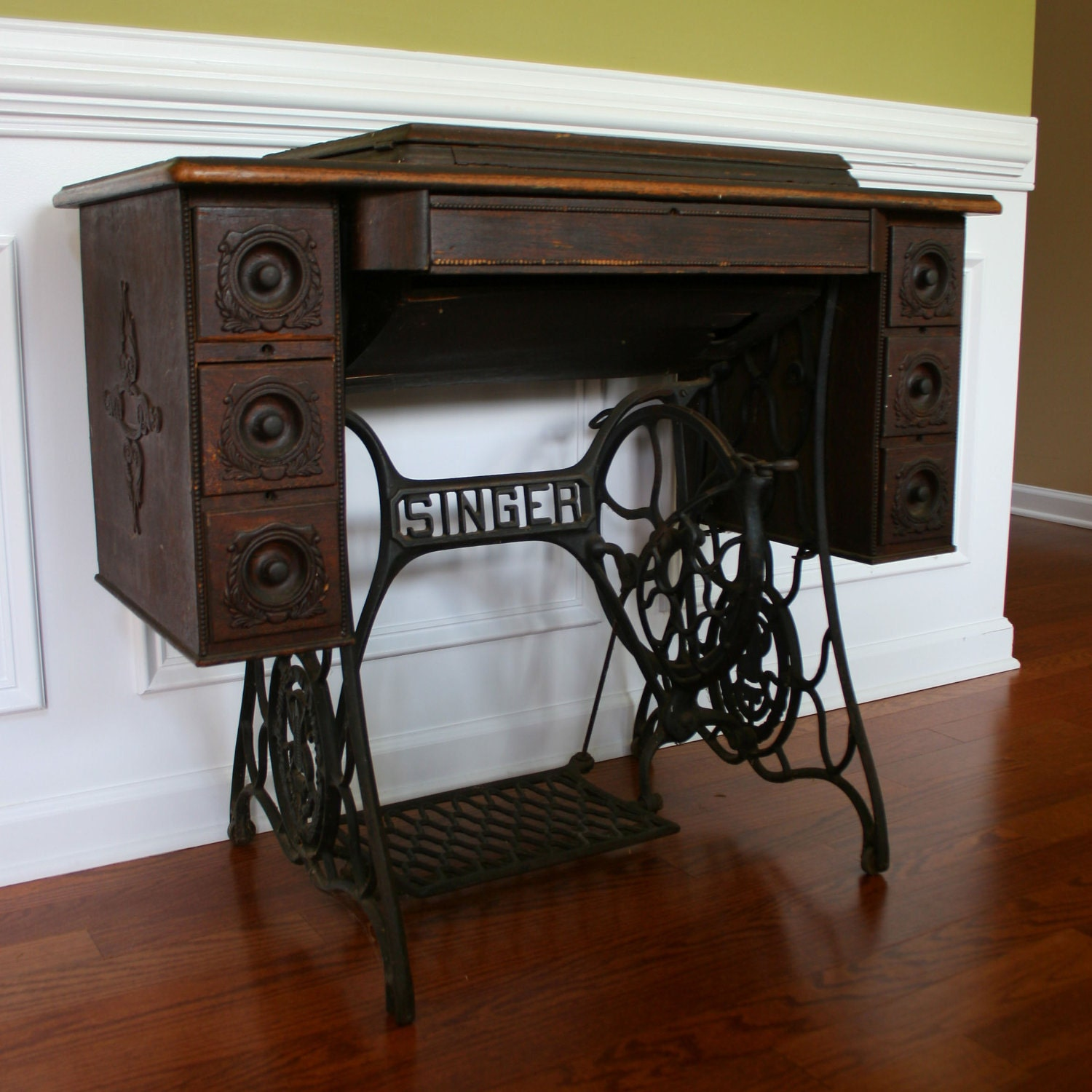 Vintage Singer Treadle Sewing Machine Table Reserved For