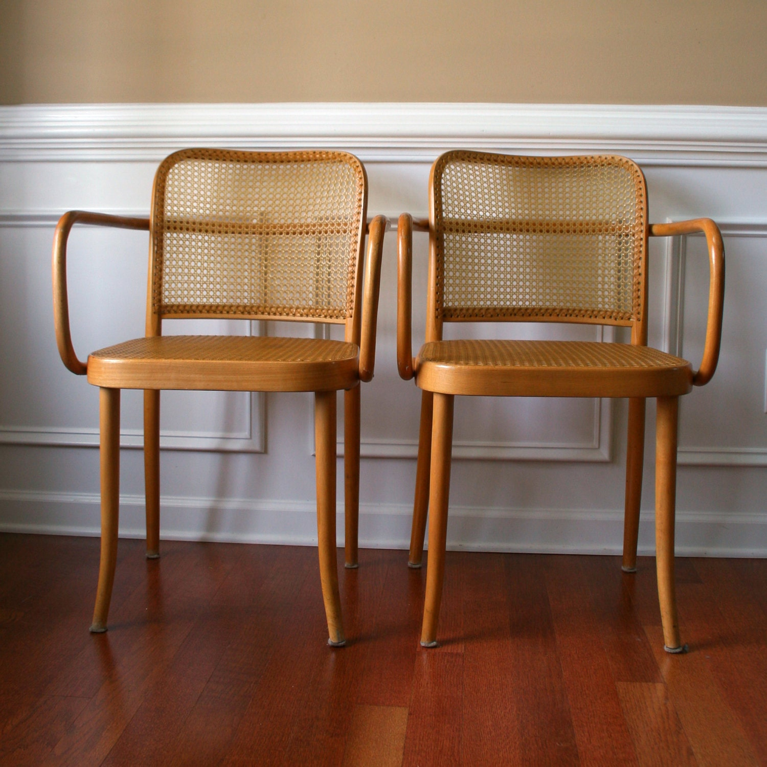 pair stendig chairs cane chairs thonet bentwood prague