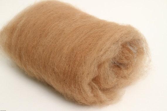 Spinning Batt: Caramel Alpaca