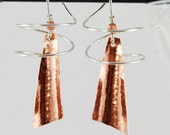 Copper Twirl Earrings