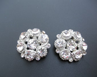 Twin Rhinestone Brooches