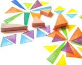 Triangle mystery pack of 4 rubber stamps