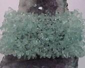 Aquamarine Crystal Gemstone Beaded Bracelet GREAT BRIDESMAID GIFT