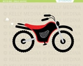 Motor Bike - Clip Art Single - Digital Elements Commercial use for Cards, Stationery and Paper Crafts and Products