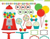 Candy Shoppe - Primary - Clip Art Set - Digital Elements Commercial use for Cards, Stationery and Paper Crafts and Products