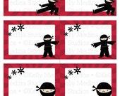 Ninja - Printable Labels - Personal Use, Table, Gift Bag labels, Paper Crafts and Products