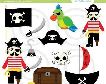 Fun Pirate Elements by Kelly Medina - Clip Art Set