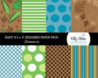 Dinosaur  - Designer Paper Pack Set Digital Elements for Cards, Stationery and Paper Crafts and Products