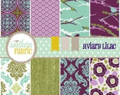 Aviary 2 by Joel Dewberry-32- 5 INCH Quilting Fabric Charm Pack Squares- Lilac Palette