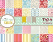 Taza by Dena Designs 30- 6 INCH Quilting Fabric Squares for Free Spirit