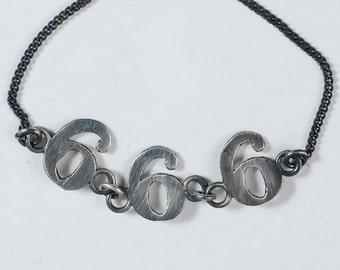 Sterling 6-6-6 Charm Bracelet