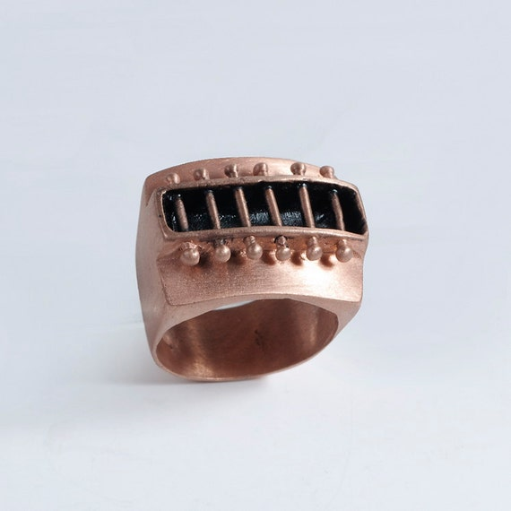 40% off RTS Rose Gold Plated Rivets Ring Size 7.5