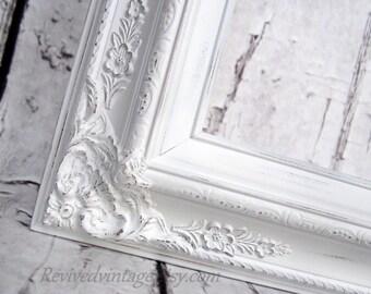 extra large frame old world style baroque picture frame 44x32 white gold black - Extra Large Frames