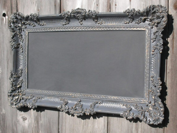 Hollywood Regency Chalkboard OLD WORLD STYLE Chalk board Restaurant Grey French Country Chalkboard