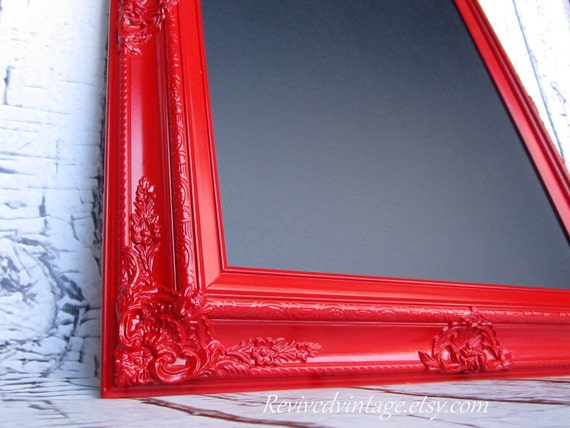 KITCHEN CHALKBOARD For Sale Framed Magnetic Chalkboard Red Furniture Red Framed Chalk board  Baroque Home Office Organizer