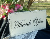 Thank You Vintage Wedding Signs 20 x 10