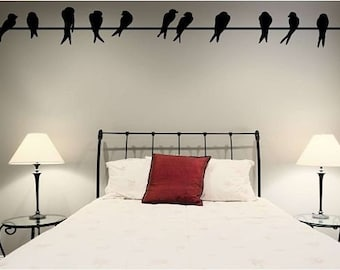 Birds on a Wire Vinyl Wall Decal