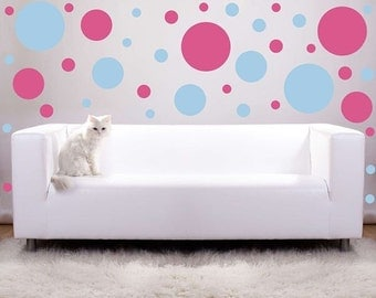 Large size Polka Dots vinyl wall decals