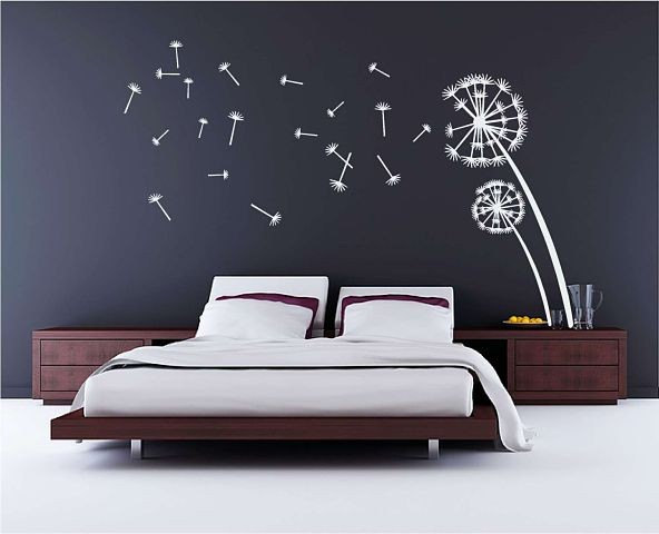 dandelion large vinyl wall decals. Black Bedroom Furniture Sets. Home Design Ideas