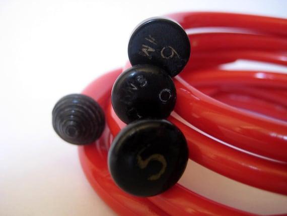 Knitting Needle Bracelets Fire Engine Red MEDIUM