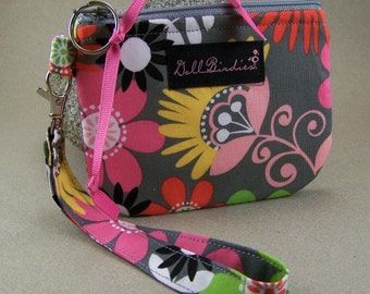 Padded Zippered Gadget Wristlet for IPod, Cell Phones, Small Cameras, MP3 Players, I.D., Cards, Chang,