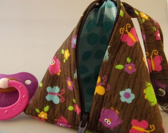 Last One this Fabric Original Pacifier Pyramid/Coin Purse/Jewelry Bag/Small Item/Gift PouchTriangle Pod Pouch