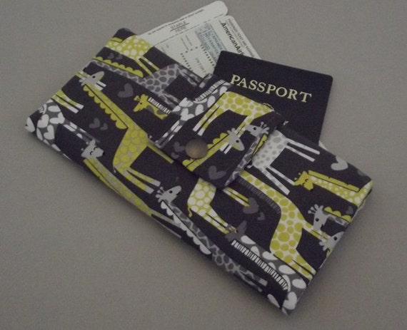 Dollbirdies Long Boarding Pass Passport Wallet Last One this Fabric