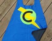 Personalized Childs Superhero cape - double sided - Custom hero cape-birthday gift - superhero party