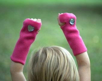 Girl Power Superhero Sparkle Cuffs fingerless gloves