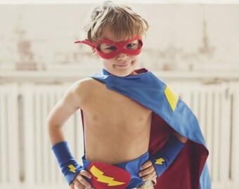Childrens Super hero Accessory Super Bolt Belt - super hero party favor - super hero cape accessory - boy birthday gift